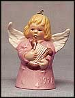 1978 Angel With Harp - Pink, Goebel Angel Bell MAIN