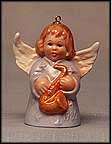 1980 Angel With Saxophone - Lilac, Goebel Angel Bell