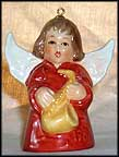 1980 Angel With Saxophone - Red, Goebel Angel Bell