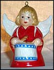 1984 Angel With Drum - Red, Goebel Angel Bell