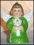 1988 Angel With Candle - Green, Goebel Angel Bell
