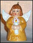1988 Angel With Candle - Yellow, Goebel Angel Bell