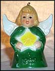 1989 Angel With Star - Green, Goebel Angel Bell
