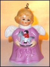 1993 Angel With Rocking Horse - Lilac, Goebel Angel Bell MAIN