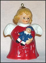 1994 Angel With Doll - Red, Goebel Angel Bell MAIN