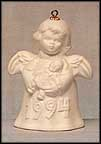 1994 Angel With Doll - White, Goebel Angel Bell