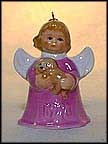 1996 Angel With Puppy - Lilac, Goebel Angel Bell MAIN