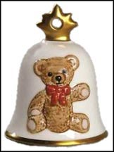 1987 Teddy Bear, Goebel Annual Christmas Bell Ornament