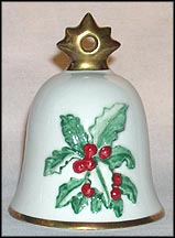 1990 Holly, Goebel Annual Christmas Bell Ornament
