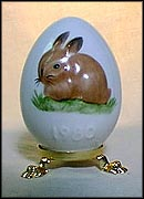1980 Bunny, Goebel Annual Easter Egg