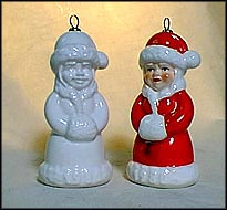 1980 Mrs. Claus white, Goebel Annual Christmas Ornament