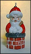 1982 Santa In Chimney color, Goebel Annual Christmas Ornament