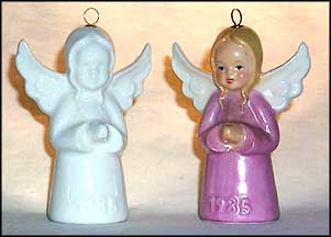 1985 Angel white, Goebel Annual Christmas Ornament
