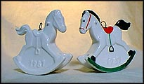 1987 Rocking Horse white, Goebel Annual Christmas Ornament