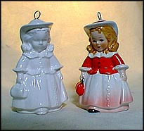 1988 Little Girl color, Goebel Annual Christmas Ornament