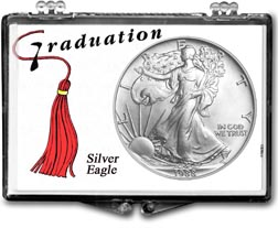 1988 Graduation Tassle American Silver Eagle Gift Display THUMBNAIL
