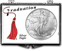1990 Graduation Tassle American Silver Eagle Gift Display THUMBNAIL