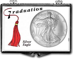 1995 Graduation Tassle American Silver Eagle Gift Display THUMBNAIL