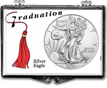 Graduation Tassle American Silver Eagle Gift Display LARGE