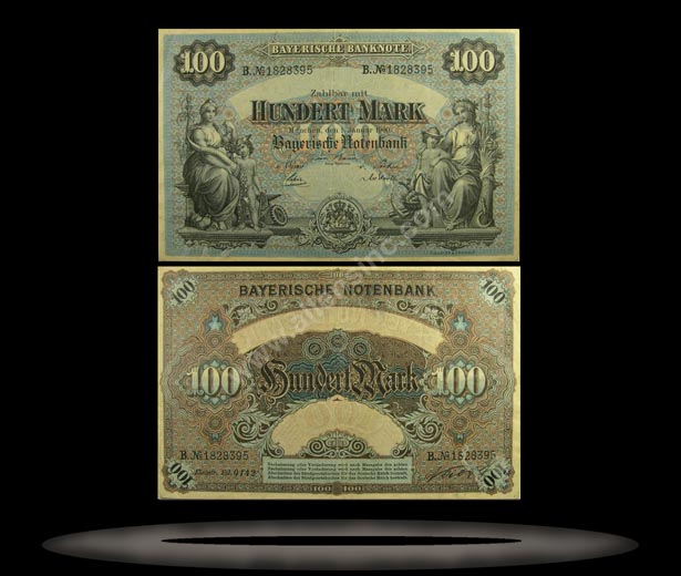 Bavaria, German States Banknote, 100 Mark, 1.1.1900, P#922