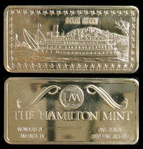 Delta Queen' Art Bar by Hamilton Mint.