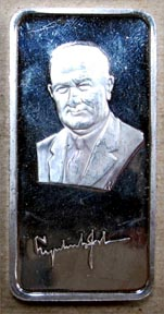 Lyndon B. Johnson' Art Bar by Hamilton Mint.