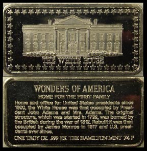 White House' Art Bar by Hamilton Mint.