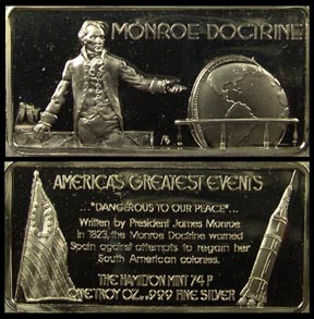 Monroe Doctrine' Art Bar by Hamilton Mint.