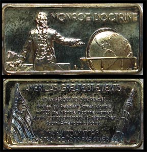 Monroe Doctrine, gold plated' Art Bar by Hamilton Mint.