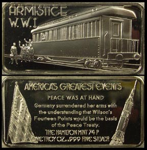 Armistice WWI' Art Bar by Hamilton Mint.