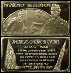 Invention of the Telephone' Art Bar by Hamilton Mint.