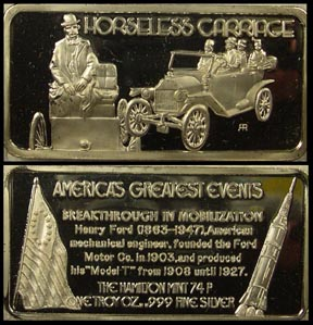Horseless Carriage' Art Bar by Hamilton Mint.