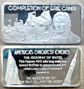 Completion Of The Erie Canal' Art Bar by Hamilton Mint. MAIN