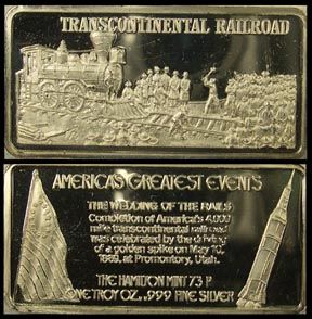Transcontinental Railroad' Art Bar by Hamilton Mint.