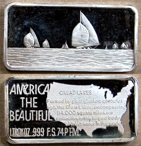 Great Lakes' Art Bar by Hamilton Mint.