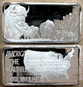 American Bison' Art Bar by Hamilton Mint. MAIN