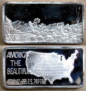 Blossom of the Grand Canyon' Art Bar by Hamilton Mint. MAIN