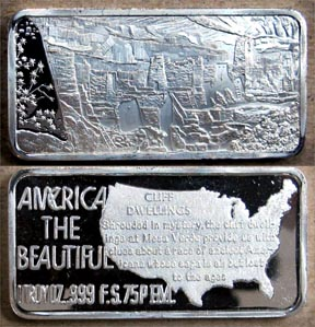 Cliff Dwellings' Art Bar by Hamilton Mint. MAIN