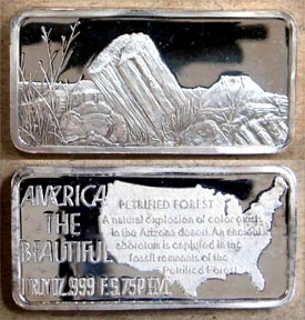 Petrified Forest' Art Bar by Hamilton Mint.