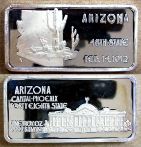 Arizona' Art Bar by Hamilton Mint. MAIN