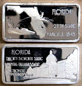 Florida' Art Bar by Hamilton Mint. MAIN