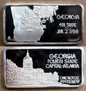 Georgia' Art Bar by Hamilton Mint. MAIN