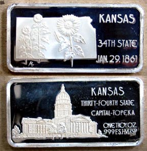 Kansas' Art Bar by Hamilton Mint. MAIN