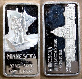 Minnesota' Art Bar by Hamilton Mint. MAIN