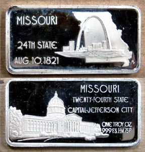 Missouri' Art Bar by Hamilton Mint. MAIN