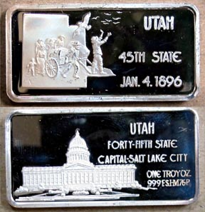 Utah' Art Bar by Hamilton Mint.