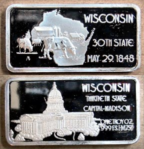 Wisconsin' Art Bar by Hamilton Mint. MAIN