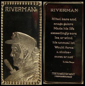 Riverman' Art Bar by Hamilton Mint.