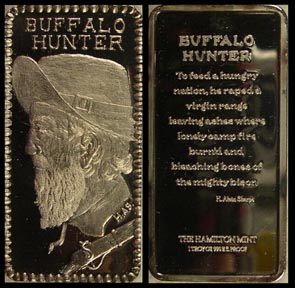 Buffalo Hunter' Art Bar by Hamilton Mint.