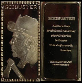Sodbuster' Art Bar by Hamilton Mint.